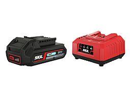 """SKIL 3110 AA Akumuliatorius (""""20V Max"""" (18 V) 2,5 Ah """"Keep Cool"""" ličio jonų) ir įkroviklis"""